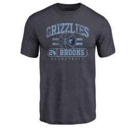 Men's Dillon Brooks Memphis Grizzlies Navy Baseline Tri-Blend T-Shirt