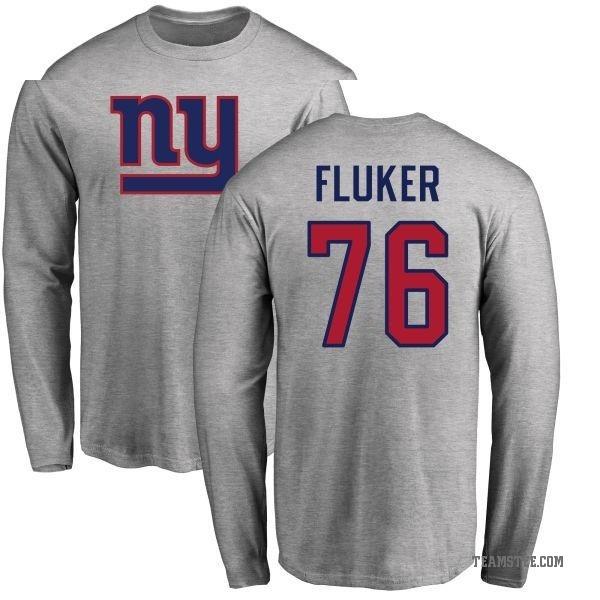 sneakers for cheap aa60a d72e6 Men's D.J. Fluker New York Giants Name & Number Logo Long Sleeve T-Shirt -  Ash - Teams Tee