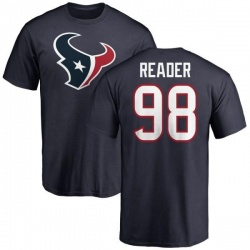 Men's D.J. Reader Houston Texans Name & Number Logo T-Shirt - Navy