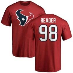 Men's D.J. Reader Houston Texans Name & Number Logo T-Shirt - Red
