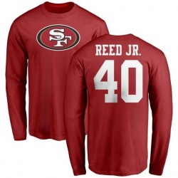 timeless design 31f1c 06f70 Men's D.J. Reed Jr. San Francisco 49ers Backer T-Shirt - Ash ...