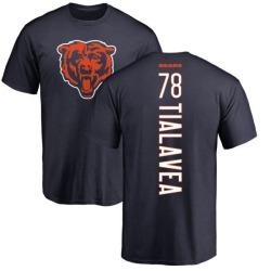 Men's D.J. Tialavea Chicago Bears Backer T-Shirt - Navy