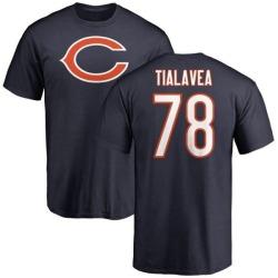 Men's D.J. Tialavea Chicago Bears Name & Number Logo T-Shirt - Navy