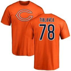 Men's D.J. Tialavea Chicago Bears Name & Number Logo T-Shirt - Orange