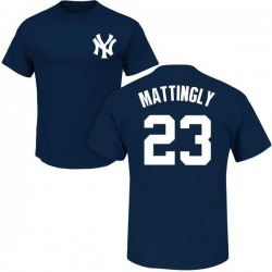 Men's Don Mattingly New York Yankees Roster Name & Number T-Shirt - Navy