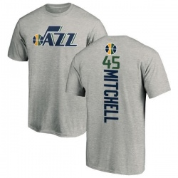 Men's Donovan Mitchell Utah Jazz Ash Backer T-Shirt