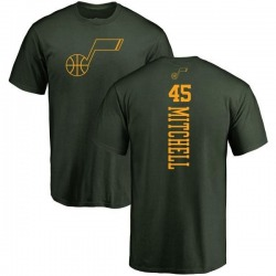 Men's Donovan Mitchell Utah Jazz Green One Color Backer T-Shirt