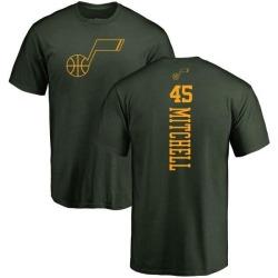 Men's Donovan Mitchell Utah Jazz Green One Color Backer T-Shirt