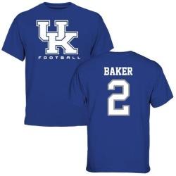 Men's Dorian Baker Kentucky Wildcats Football T-Shirt - Royal