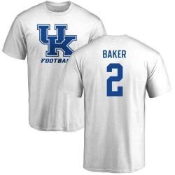 Men's Dorian Baker Kentucky Wildcats One Color T-Shirt - White