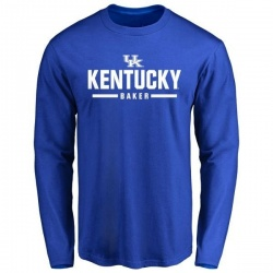 Men's Dorian Baker Kentucky Wildcats Sport Wordmark Long Sleeve T-Shirt - Royal