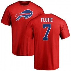 Men's Doug Flutie Buffalo Bills Name & Number Logo T-Shirt - Red