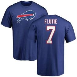 Men's Doug Flutie Buffalo Bills Name & Number Logo T-Shirt - Royal