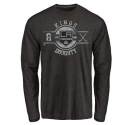 Men's Drew Doughty Los Angeles Kings Insignia Tri-Blend Long Sleeve T-Shirt - Black