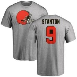 Men's Drew Stanton Cleveland Browns Name & Number Logo T-Shirt - Ash