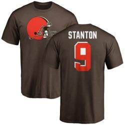 Men's Drew Stanton Cleveland Browns Name & Number Logo T-Shirt - Brown