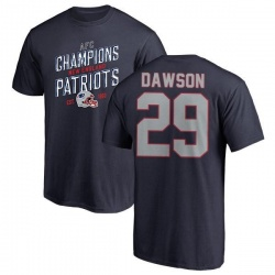 Men's Duke Dawson New England Patriots 2018 AFC Champions Navy T-Shirt