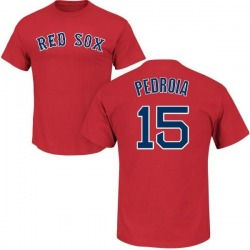 Men's Dustin Pedroia Boston Red Sox Roster Name & Number T-Shirt - Scarlet