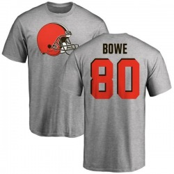 Men's Dwayne Bowe Cleveland Browns Name & Number Logo T-Shirt - Ash