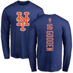 Men's Dwight Gooden New York Mets Backer Long Sleeve T-Shirt - Royal