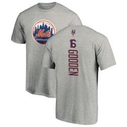 Men's Dwight Gooden New York Mets Backer T-Shirt - Ash