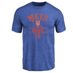 Men's Dwight Gooden New York Mets Base Runner Tri-Blend T-Shirt - Royal