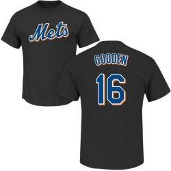Men's Dwight Gooden New York Mets Roster Name & Number T-Shirt - Black