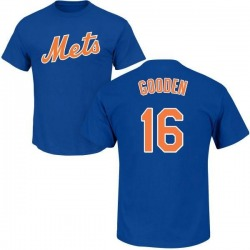Men's Dwight Gooden New York Mets Roster Name & Number T-Shirt - Royal