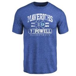 Men's Dwight Powell Dallas Mavericks Royal Baseline Tri-Blend T-Shirt