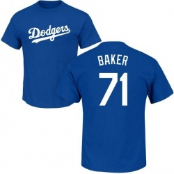 Men's Dylan Baker Los Angeles Dodgers Roster Name & Number T-Shirt - Royal
