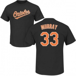 Men's Eddie Murray Baltimore Orioles Roster Name & Number T-Shirt - Black