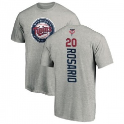 Men's Eddie Rosario Minnesota Twins Backer T-Shirt - Ash