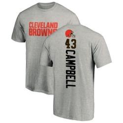 Men's Elijah Campbell Cleveland Browns Backer T-Shirt - Ash