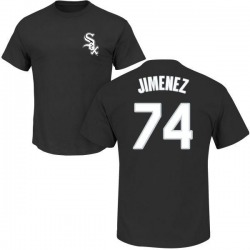 Men's Eloy Jimenez Chicago White Sox Roster Name & Number T-Shirt - Black