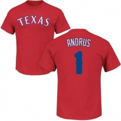 Men's Elvis Andrus Texas Rangers Roster Name & Number T-Shirt - Red