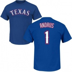 Men's Elvis Andrus Texas Rangers Roster Name & Number T-Shirt - Royal