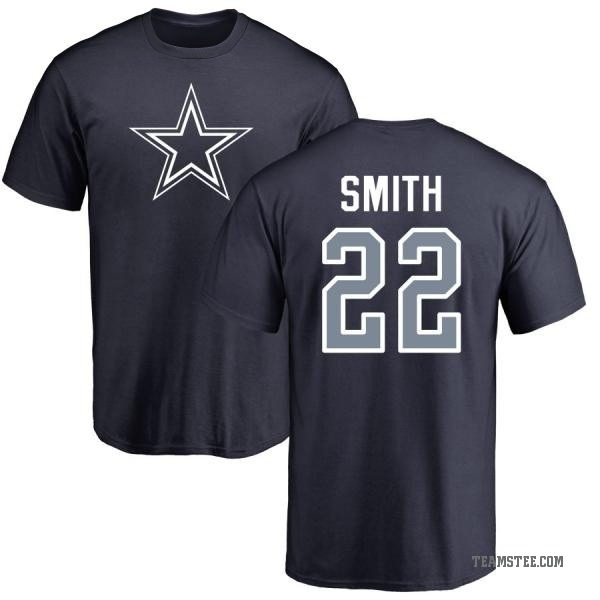 best loved 81634 17845 Men's Emmitt Smith Dallas Cowboys Name & Number Logo T-Shirt - Navy - Teams  Tee