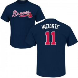 Men's Ender Inciarte Atlanta Braves Roster Name & Number T-Shirt - Navy