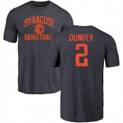 Men's Eric Dungey Syracuse Orange Distressed Basketball Tri-Blend T-Shirt - Navy