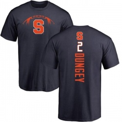 Men's Eric Dungey Syracuse Orange Football Backer T-Shirt - Navy