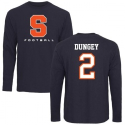 Men's Eric Dungey Syracuse Orange Football Long Sleeve T-Shirt - Navy