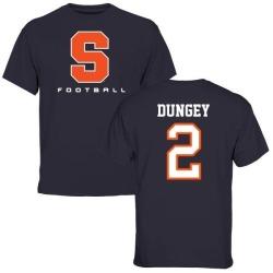 Men's Eric Dungey Syracuse Orange Football T-Shirt - Navy