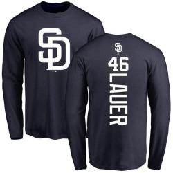 Men's Eric Lauer San Diego Padres Backer Long Sleeve T-Shirt - Navy