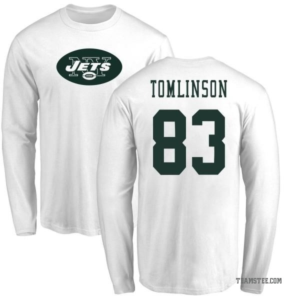 innovative design 3538f 25e65 Men's Eric Tomlinson New York Jets Name & Number Logo Long Sleeve T-Shirt -  White - Teams Tee