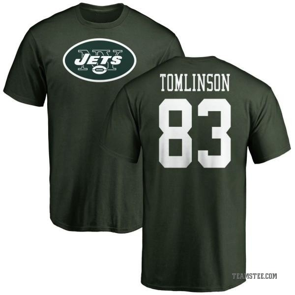 quality design 021d7 300a1 Men's Eric Tomlinson New York Jets Name & Number Logo T-Shirt - Green -  Teams Tee