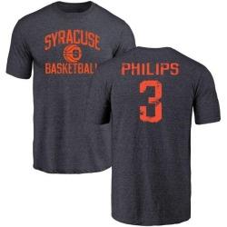 Men's Ervin Philips Syracuse Orange Distressed Basketball Tri-Blend T-Shirt - Navy