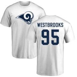 Men's Ethan Westbrooks Los Angeles Rams Name & Number Logo T-Shirt - White
