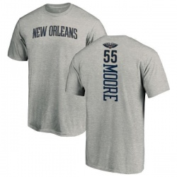 Men's E'Twaun Moore New Orleans Pelicans Ash Backer T-Shirt