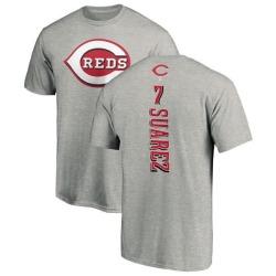 Men's Eugenio Suarez Cincinnati Reds Backer T-Shirt - Ash