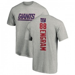 Men's Evan Engram New York Giants Backer T-Shirt - Ash